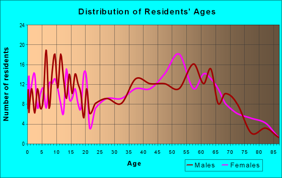Age and Sex of Residents in zip code 24079