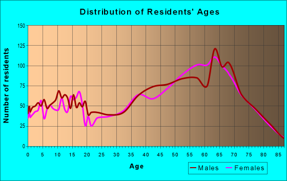 Age and Sex of Residents in zip code 24121
