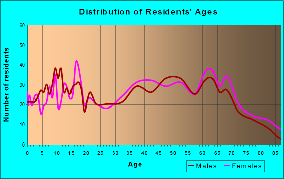 Age and Sex of Residents in zip code 24124