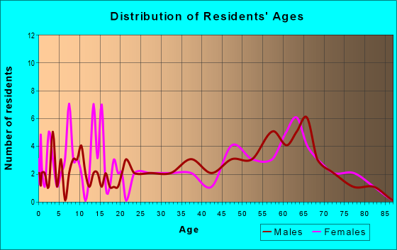 Age and Sex of Residents in zip code 24161