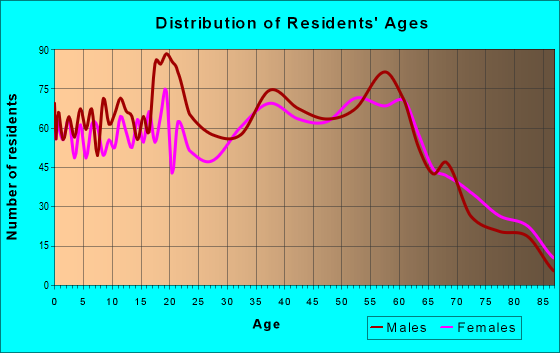 Age and Sex of Residents in zip code 24230