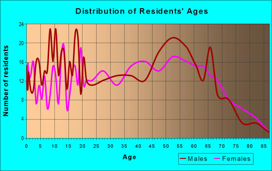 Age and Sex of Residents in zip code 24243