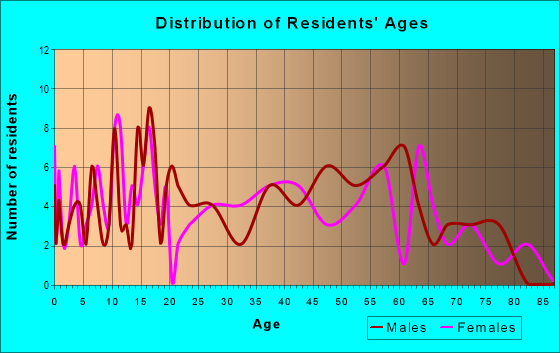 Age and Sex of Residents in zip code 24282