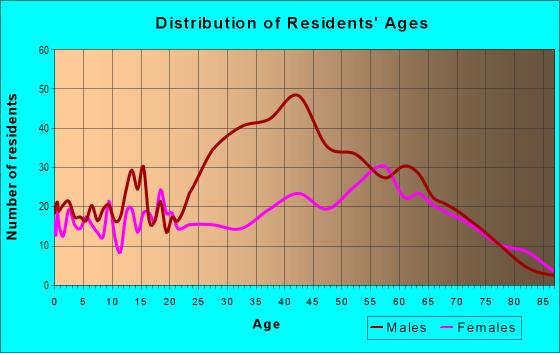 Age and Sex of Residents in zip code 24315