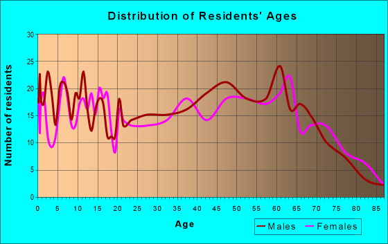 Age and Sex of Residents in zip code 24380