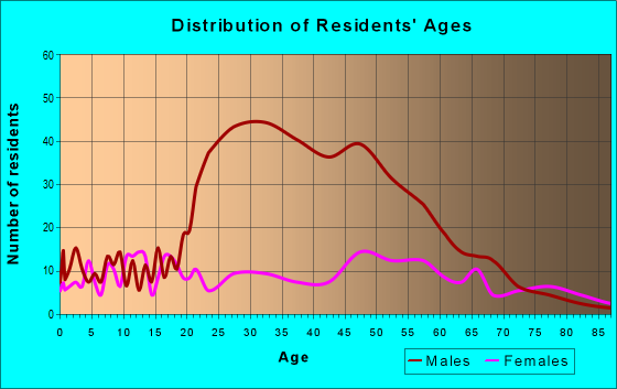 Age and Sex of Residents in zip code 24430