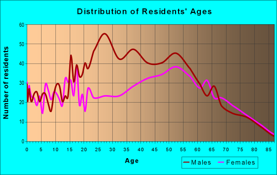 Age and Sex of Residents in zip code 24482