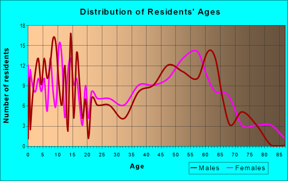 Age and Sex of Residents in zip code 24566