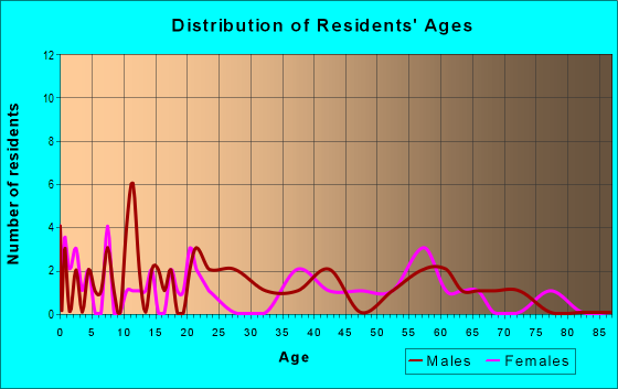 Age and Sex of Residents in zip code 24731