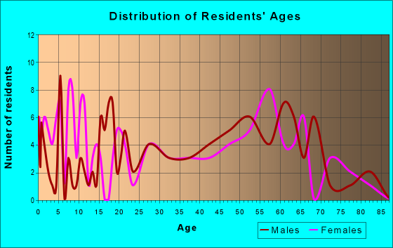 Age and Sex of Residents in zip code 24808