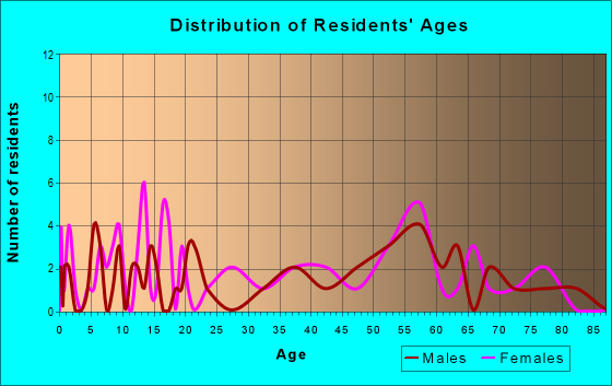Age and Sex of Residents in zip code 24849