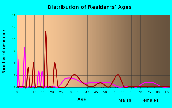 Age and Sex of Residents in zip code 24936