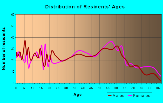 Age and Sex of Residents in zip code 25130