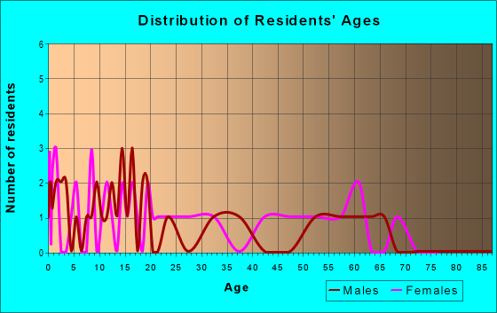 Age and Sex of Residents in zip code 25853