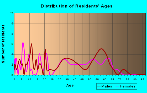 Age and Sex of Residents in zip code 25879