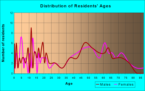 Age and Sex of Residents in zip code 26178