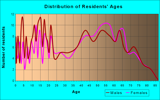 Age and Sex of Residents in zip code 26419