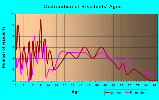 Age and Sex of Residents in zip code 26451