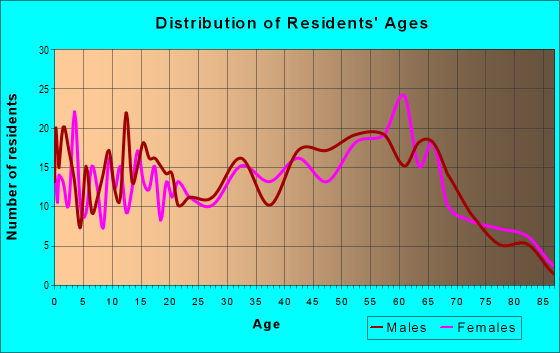 Age and Sex of Residents in zip code 28020