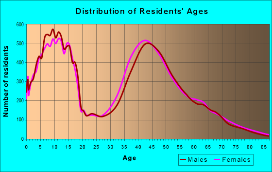 Age and Sex of Residents in zip code 28173