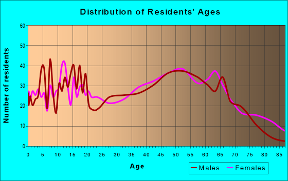 Age and Sex of Residents in zip code 28478