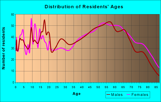 Age and Sex of Residents in zip code 28675