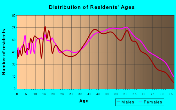 Age and Sex of Residents in zip code 28690