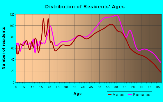 Age and Sex of Residents in zip code 28711