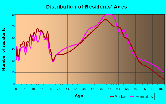 Age and Sex of Residents in zip code 28730