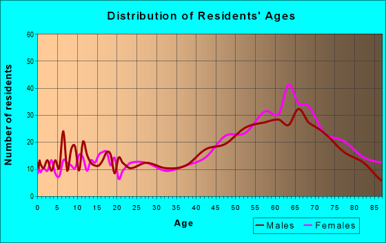 Age and Sex of Residents in zip code 28741
