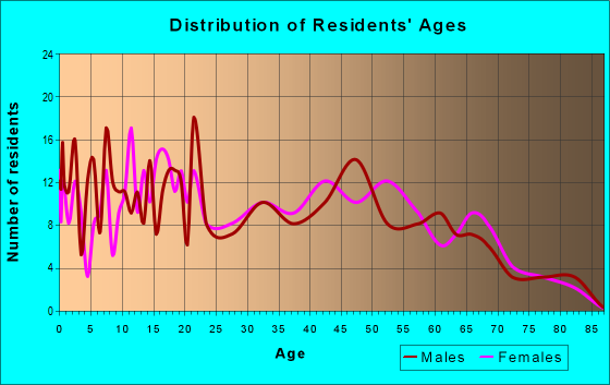 Age and Sex of Residents in zip code 29105