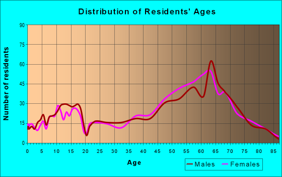 Age and Sex of Residents in zip code 29451