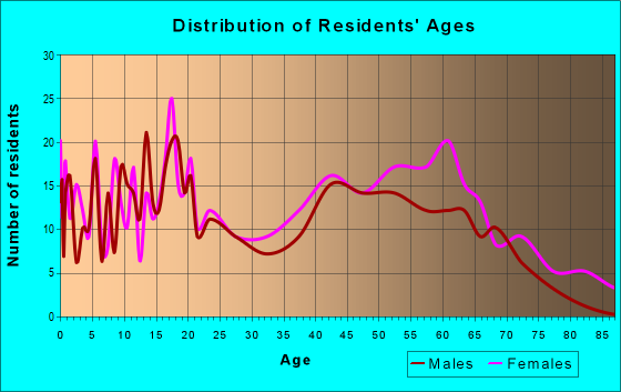 Age and Sex of Residents in zip code 29525