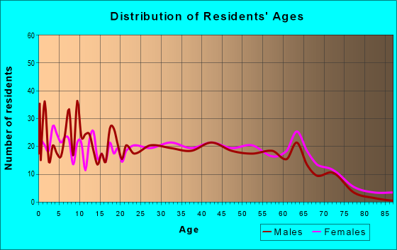 Age and Sex of Residents in zip code 29530