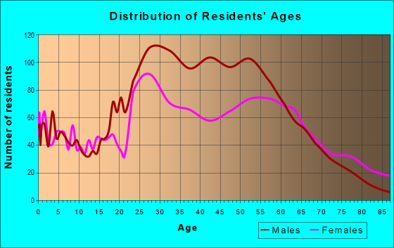 Age and Sex of Residents in zip code 29601