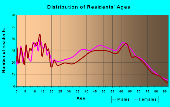 Age and Sex of Residents in zip code 29666