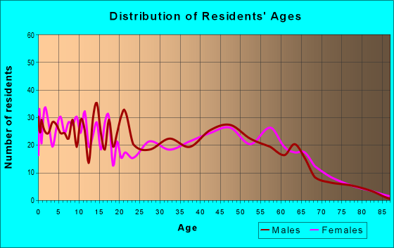 Age and Sex of Residents in zip code 29856