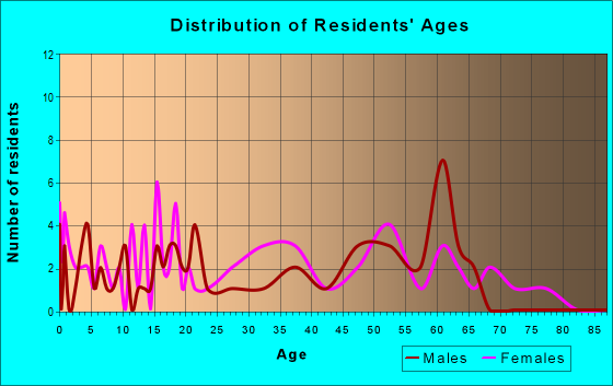 Age and Sex of Residents in zip code 30070