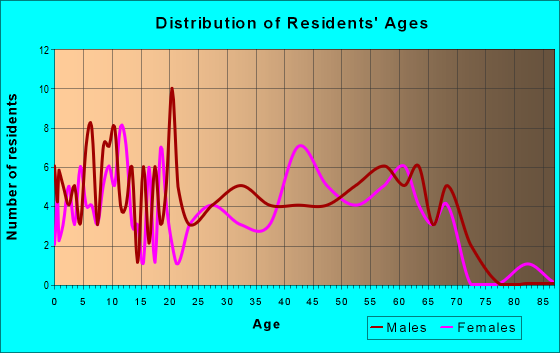 Age and Sex of Residents in zip code 30285