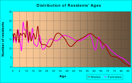 Age and Sex of Residents in zip code 31019