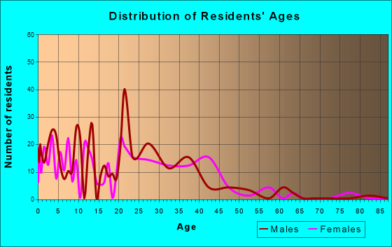 Age and Sex of Residents in zip code 31333