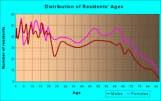 Age and Sex of Residents in zip code 31816