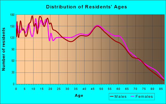 Age and Sex of Residents in zip code 33566