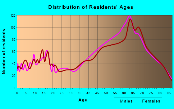 Age and Sex of Residents in zip code 33981