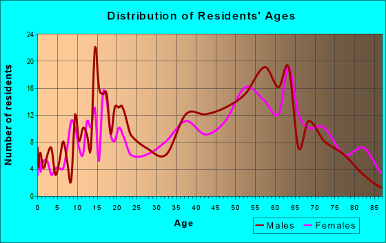 Age and Sex of Residents in zip code 35136