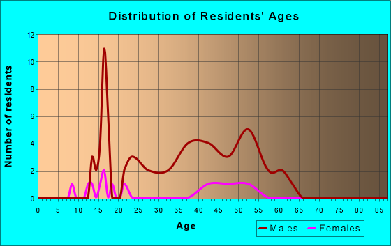 Age and Sex of Residents in zip code 37213