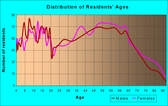 Age and Sex of Residents in zip code 37840