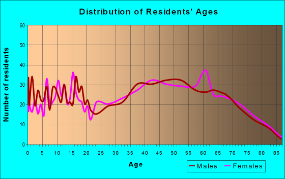 Age and Sex of Residents in zip code 37873