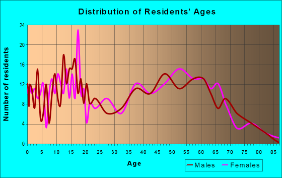 Age and Sex of Residents in zip code 38231