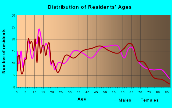 Age and Sex of Residents in zip code 38240
